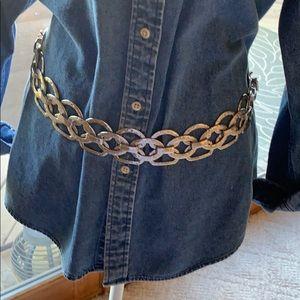 Chico's hammered chain link belt